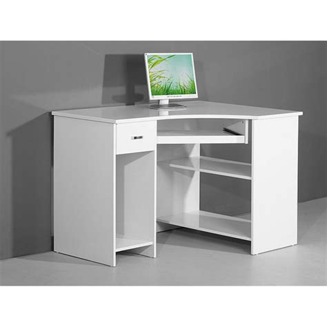 Venus White High Gloss Corner Computer Desk 3976 R Computer Desk In White