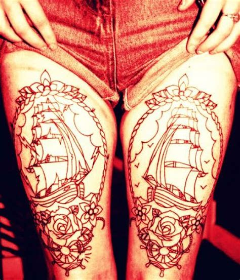 leg tattoos tumblr tattoos on thigh www imgkid the image kid