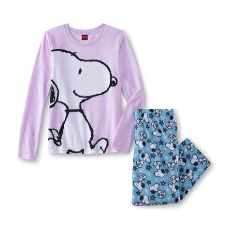 Pijama Snoopy Happy peanuts by schulz s fleece pajama top