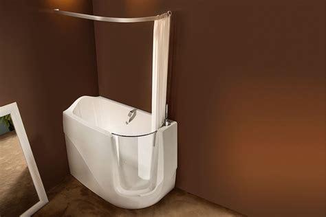 mini vasca da bagno rivestimenti parete in legno