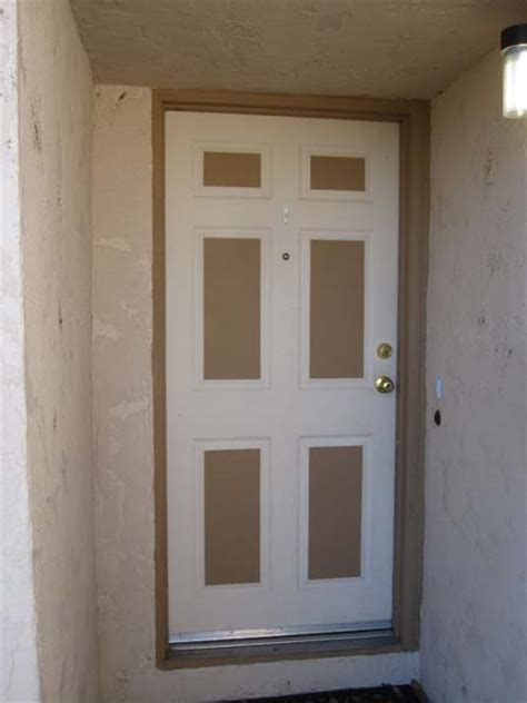 Brick Mold Door by Installing Door On Metal Casing And No Brick Mould
