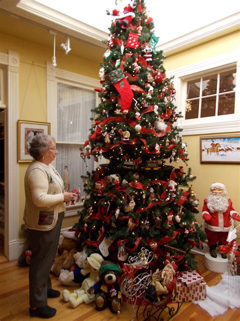 12 ft red christmas trees o tree bakers display more than 20 trees throughout season canon city daily record