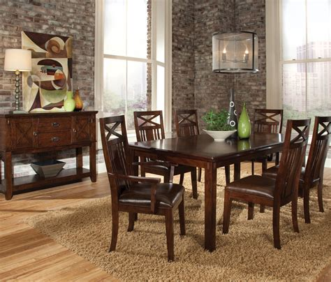 standard furniture dining room sets standard furniture sonoma 8 piece leg dining room set w