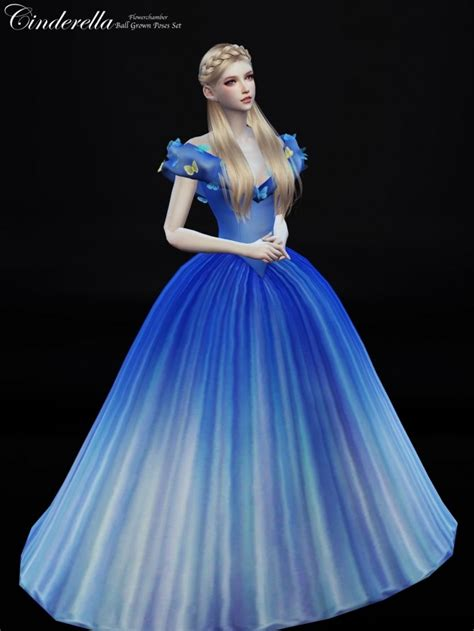 ball gown sims 4 cinderella ball grown poses set at flower chamber 187 sims 4