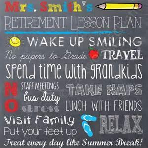 teacher retirement chalkboard printable retirement gift