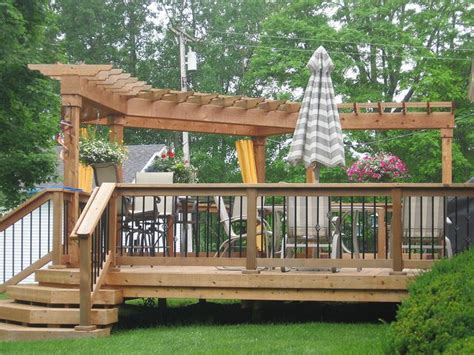 deck pergola pictures deck iron basket spindles pergola the land scape that i deck pergola
