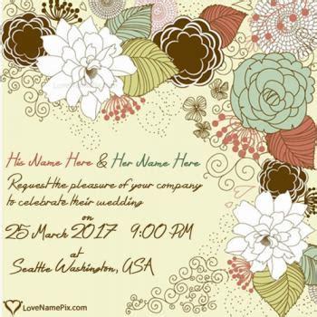 Write Wedding Invitation Card by Write Name On Wedding Invitation Cards 2
