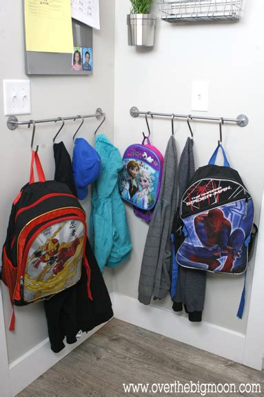 ideas for hanging backpacks 17 genius towel bar organization hacks