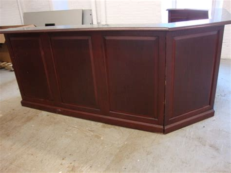 Traditional Reception Desk Traditional Reception Desk Conklin Office Furniture