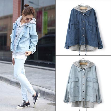 March Jkt Guess Jaket Denim Outerwear Casual Korean Style Murah Ori denim hooded jacket women s jackets review