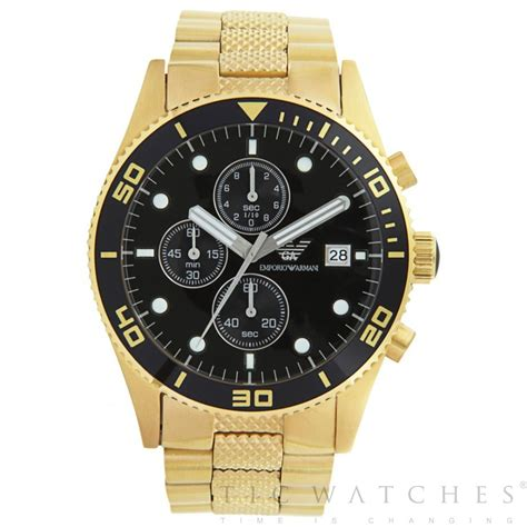 emporio armani ar5857 gents gold stainless cheap