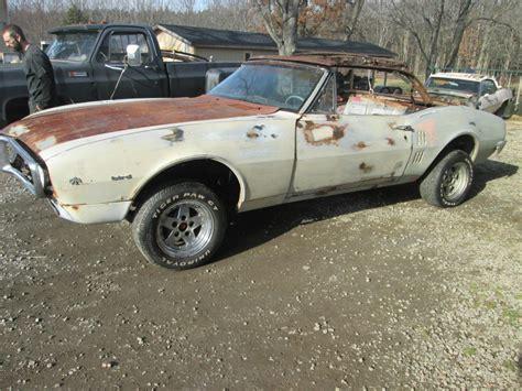1967 pontiac convertible for sale 1967 pontiac firebird convertible project car for sale