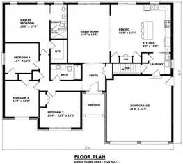four bedroom bungalow floor plan 1921 sq ft 57 4 quot w x 47 6 quot d the edmonton bungalow house plan 4 bedrooms canadian home