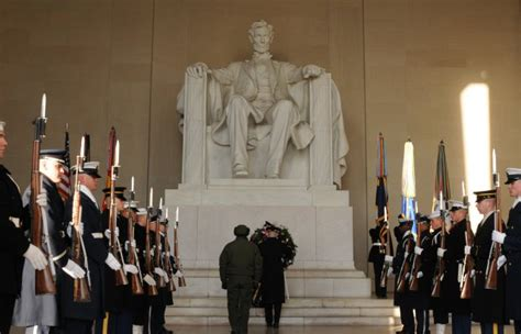 Presidents Day At The Lincoln Memorial by Presidents Day George Washington Abraham Lincoln The