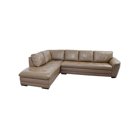 Tufted Leather Sectional Sofa 72 Raymour Flanigan Raymour Flanigan Garrison Tufted Leather Sectional Sofas