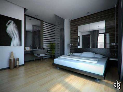Cool Floor Ls For Bedroom by Gorgeous Bedroom Design With Wooden Floor Also Mirror