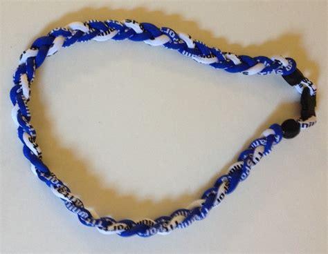 T01 218 Titanium Necklaces blue and white titanium germanium necklace dph custom pins