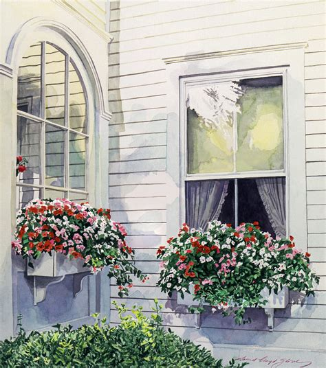 Fenster Bemalen Mit Wasserfarbe by Window Boxes Painting By David Lloyd