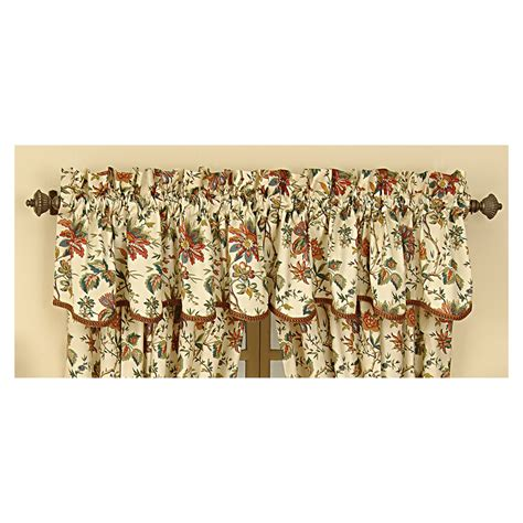 Lowes Waverly Valances shop waverly 15 in l creme home classics scalloped valance at lowes