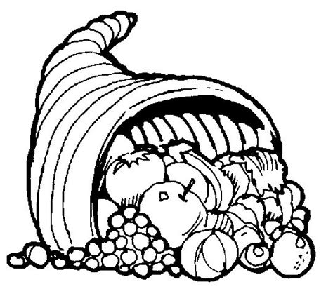 cornucopia coloring pages preschool color thanksgiving cornucopia coloring page sketch