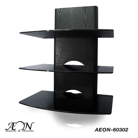 3 Shelf Wall Mount For Components by Component Shelves With Three Tier Wood Grain Glass Shelves Free Shipping Av Express