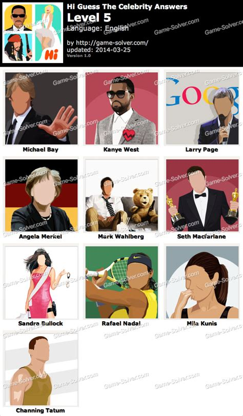 guess the celebrity hi guess the celebrity level 5 game solver