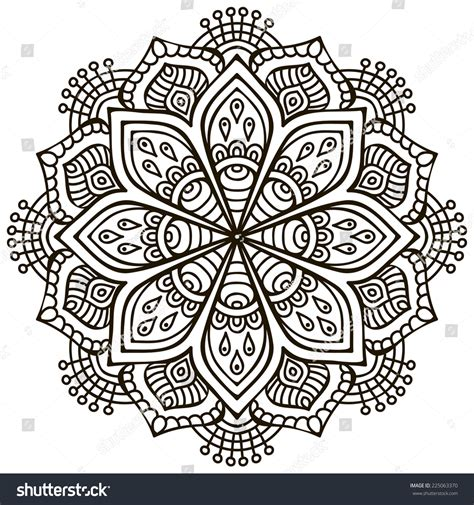 mandala round ornament pattern vintage decorative stock