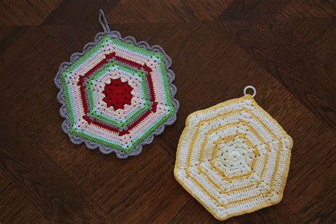 pattern holder free vintage crochet climbing trellis hexagon pot holder