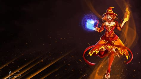 dota 2 tablet wallpaper lina slayer magic girl intelligence hero fan art dota 2 hd