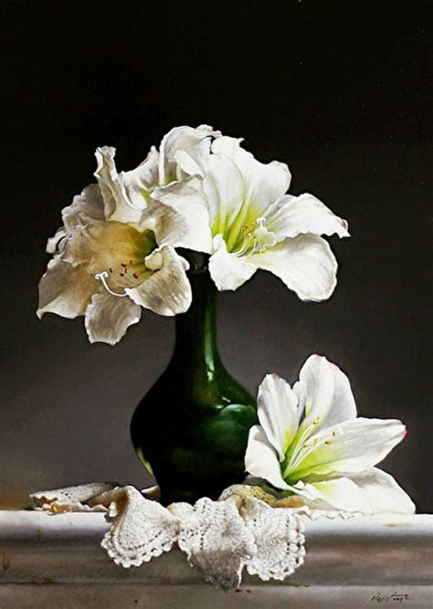 floreros altos jarrones de cristal altos con flores frescas cuadros
