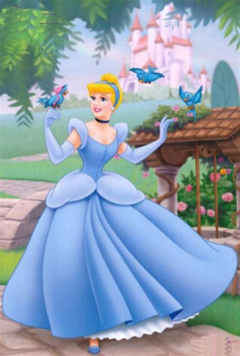 film cartoon cinderella cinderella and blue birds on wings of bluebirds