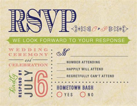 ideas for wedding rsvp cards wedding accessories ideas