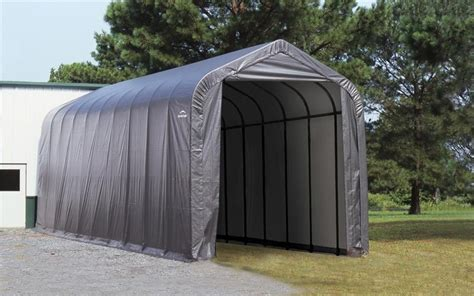 Sheds Shelters by Shelterlogic Peak Frame Portable Storage Shed 16x40x16