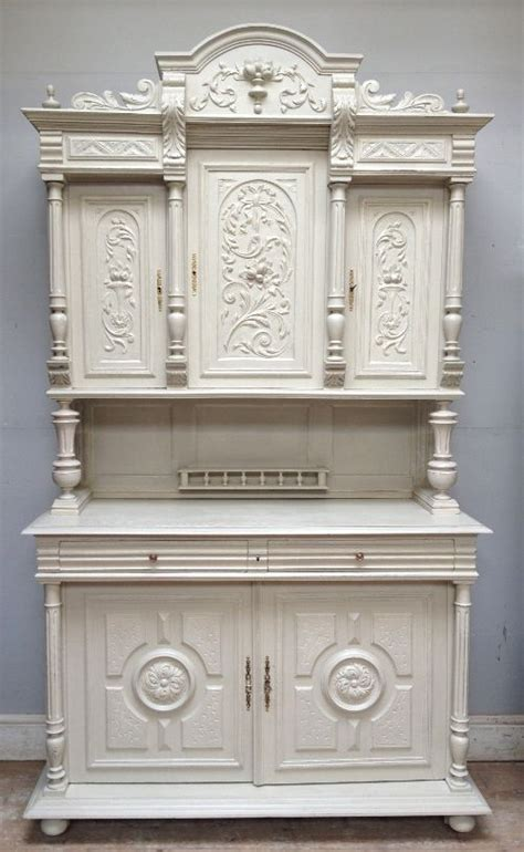 antique french  piece buffet henri ii style  white