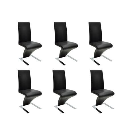 chaises lot de 6 la boutique en ligne lot de 6 chaises noir vidaxl fr
