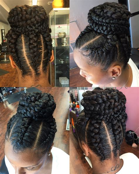 goddess bun styles get into this updo with goddess feedin braids styles by