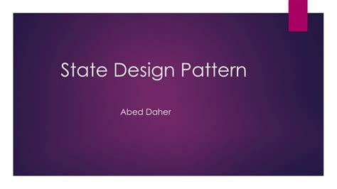 State Design Pattern Youtube | state design pattern youtube