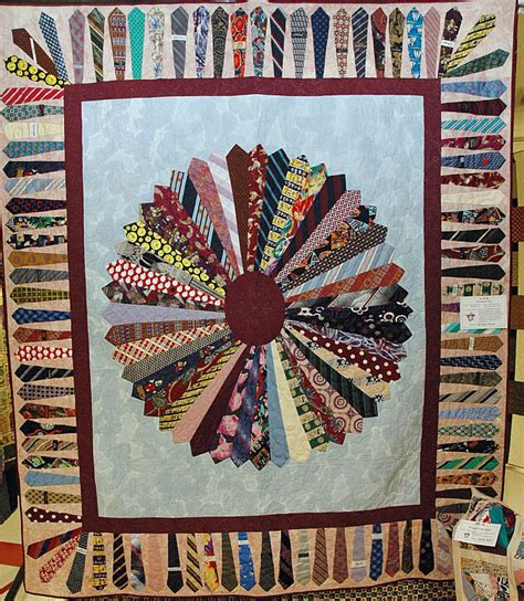 Quilt With Ties by Quilt Of Neck Ties Quilters Club Of America