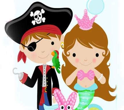 pirate and mermaid clipart (52+)