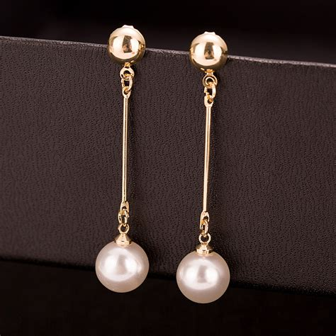 Sale Anting Korea Big Ring Color Earrings Murah aliexpress buy korean jewelry ol gold color earrings erding pearl temperament