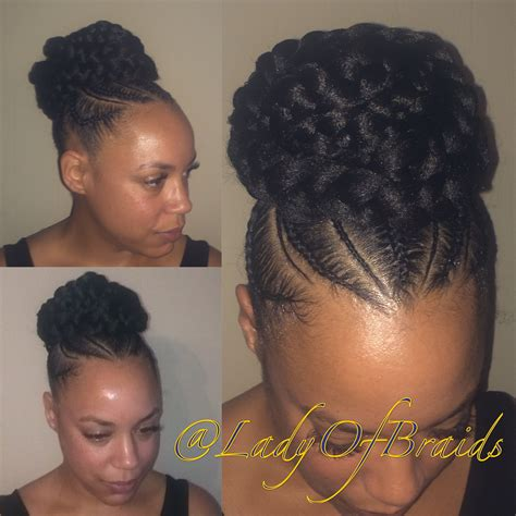 big cornrows updo styles love this cute goddess braids into a bun protective