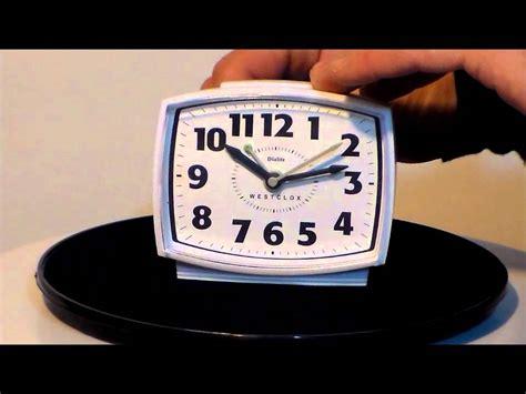 westclox  electric quartz alarm clock  constant dial light youtube