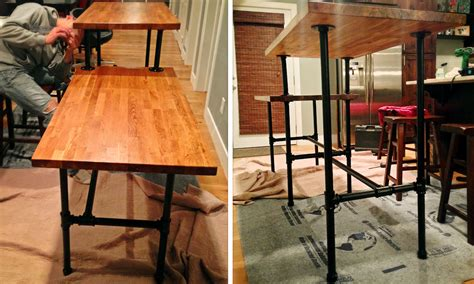 diy ikea standing desk diy adjustable standing desk from steel pipe ikea countertop
