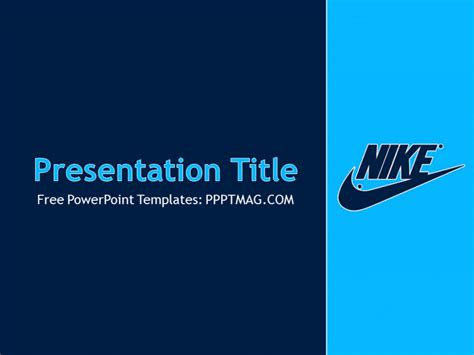 Nike Powerpoint Template Free Nike Powerpoint Template Pptmag