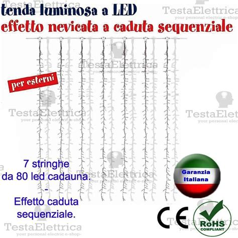 tenda luminosa tenda luminosa a led natalizia 2x2 metri sconto per quantit 224