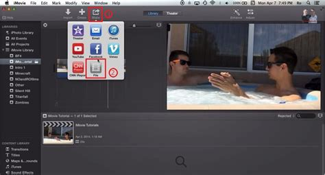 tutorial imovie os x yosemite how to export burn imovie project imovie 10 0 included
