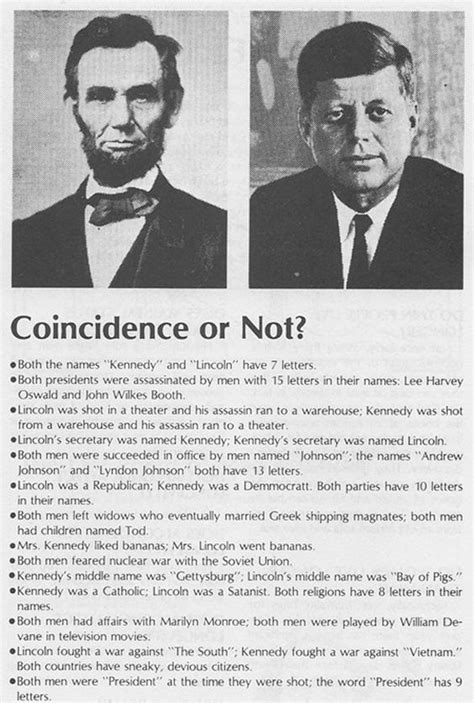 lincoln kennedy coincidences lincoln kennedy coincidences middle high school
