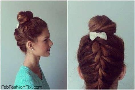 upsidedown bob hairstyles hair upside down french braid bun hairstyle tutorial