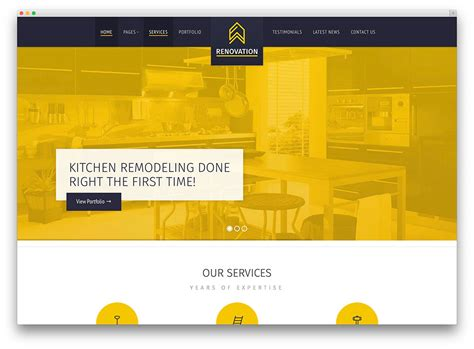 renovation theme 30 best construction company wordpress themes 2017 colorlib