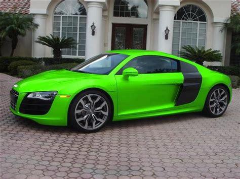 audi r8 v10 neon green cars
